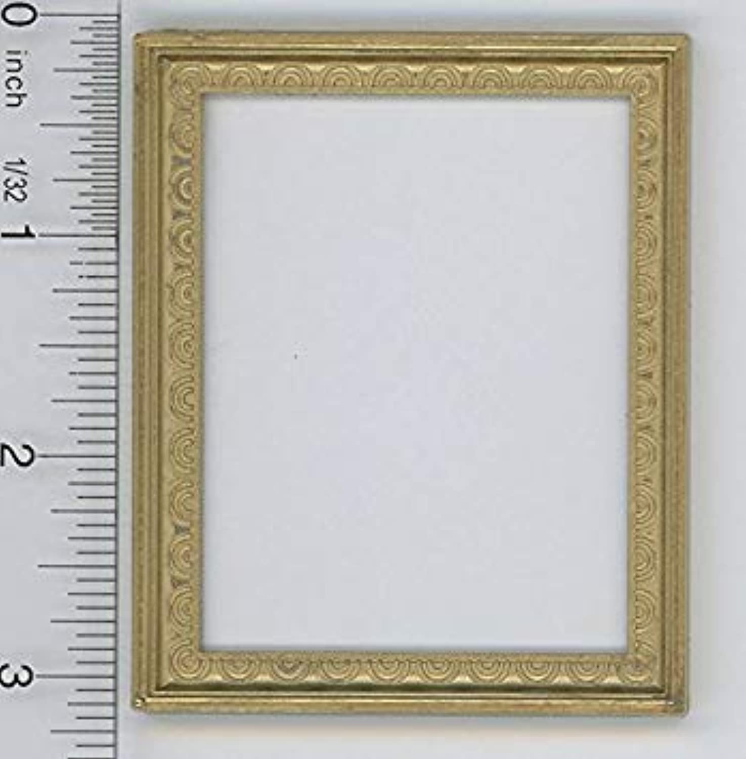 Dollhouse Miniature 1 12 Scale Large Rectangular Victorian gold Picture Frame