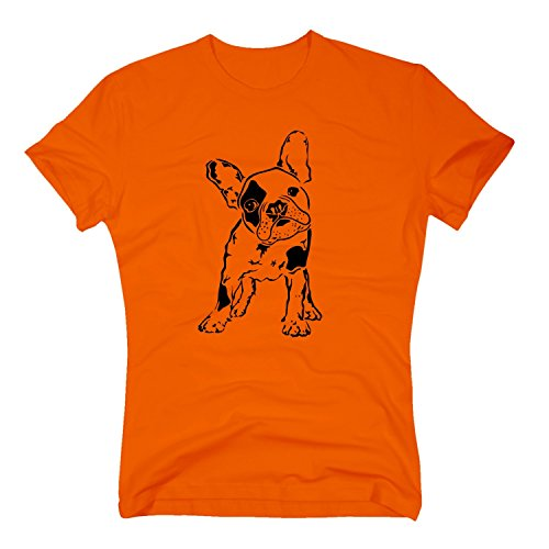 T-Shirt Baby Bulldogge Französisch French Dog Doggy Hund Hundebaby, XXXL, orange