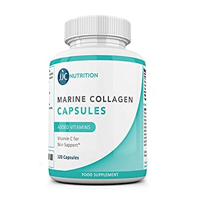 JJC Nutrition - Superior Bioavailable Type 1 Marine Collagen Capsule 1000mg (90 Capsules), with VIT C, VIT B3 for Women and Men – Anti Aging, Strengthens Skin, Joints, Hair, Nails
