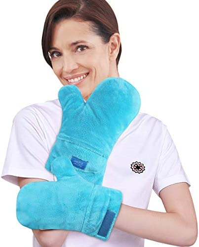 Relief Expert Microwavable Heated Mittens Heat Arthritis Gloves for Hands Warmer Therapy and product image
