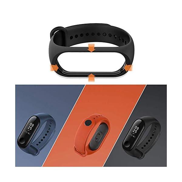 BRone Pulsera para Xiaomi Mi Band 3 / Mi Band 4, Coloridos Impermeable Reemplazo Correas Reloj Silicona Correa para… 7