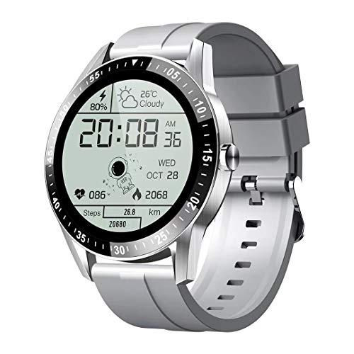 JINPXI Reloj Inteligente para Hombre Llamada Bluetooth con Pulsómetro,Podómetro,Monitor de Sueño,5 Modos de Deportes Cronómetrol,Pulsera de Actividad,Smartwatch Inteligentes Hombre