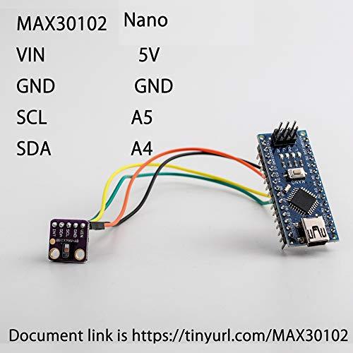 用於Arduino的Heart Rate Click GY-MAX30102傳感器光學心率監測器模塊