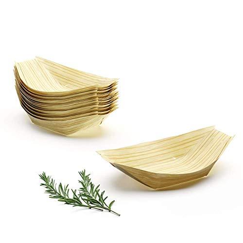 Platos Desechables Biodegradables 100 uds 13cm Vajilla Bebe Platos Bambu Bol de Madera Vajillas Naturales Alternativa al Plastico Papel y Carton Compostables Plato Bebe Ecologicos