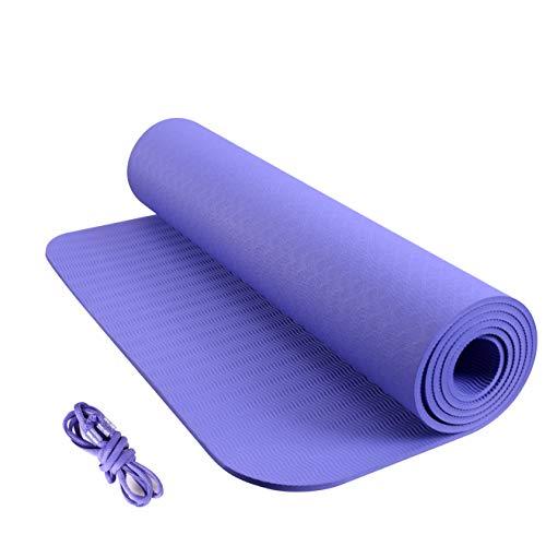 yogamat, hoge dichtheid, goede elasticiteit;dubbelzijdige textuur, mooie en antislip yogamat