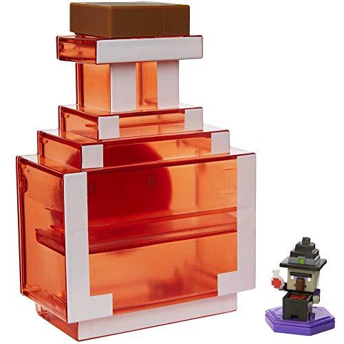 Minecraft GKT45 - Zaubertrank zum Mitnehmen mit exklusiver Mini-Figur, Sammelkoffer für Minifiguren, basierend auf dem Videospiel, Spielzeug für Kinder ab 6 Jahren