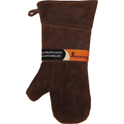 Montana Grill-Handschuh aus Veloursleder und Leder – Ofenhandschuh für den Einsatz im Innen- und Außenbereich, 26,7 cm – LGG-L16