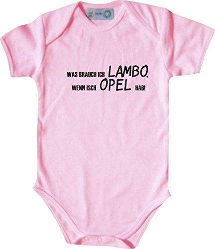 Unbekannt Lustiger Baby Body mit Druck/was Brauch Ich Lambo, Wenn Isch OPEL Hab! / Farbe: Babyrosa/Größe: 50-56 (1-2 Monate)
