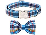 unique style paws Dog Collar with Bowtie, Durable Adjustable Dog Collars, Bow Dog Collar for Small Medium Large Girl or Boy Dogs and Cats