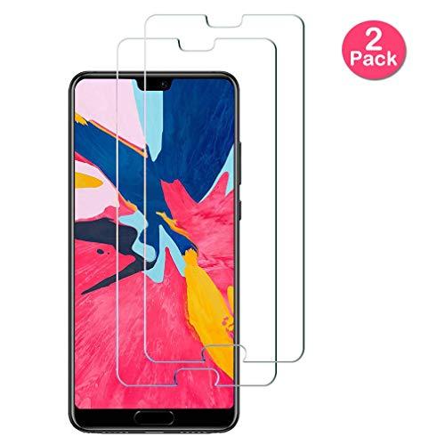 Yichxu [2 Stück] Panzerglasfolie Bildschirmschutzfolie für Huawei P20, Schutzglas für Huawei P20, 9H Festigkeit Anti-Kratzen HD Klar Anti Fingerabdruck Schutzfolie für Huawei P20