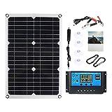FLAMEER Cargador de batería del panel solar de 180 vatios 18v / 5v Conjunto dual de células solares USB - Controlador 100A