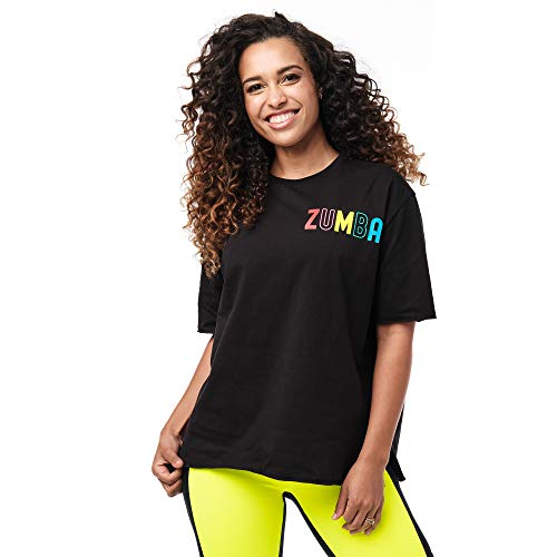 Zumba Loose Fitting Dance Fitness Graphic Tees Athletic Workout Top for Women, I am Zumba, XXL