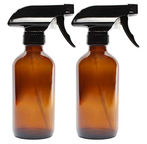 8-Ounce Amber Glass Spray Bottles (2 Pack)