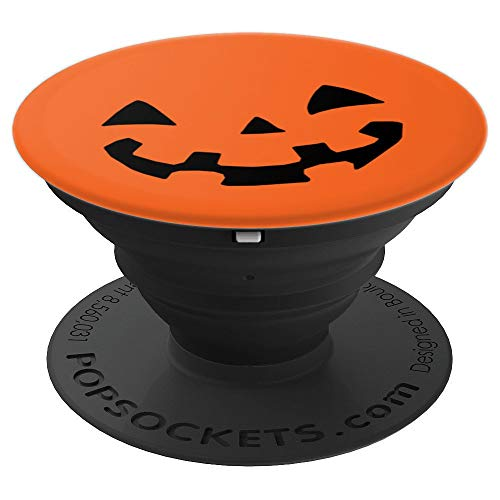 Halloween - Spooky Jack-O-Lantern Kawaii Face Cute Pumpkin PopSockets Grip and Stand for Phones and Tablets