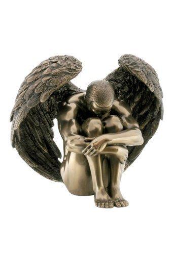 Wu Macho Nude Angel Holding Rodillas Estatua Escultura