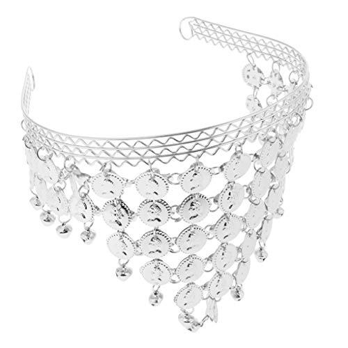 Hellery Stilvolle Münze Anhänger Stirnband Bauchtanz Tanzen Kopfbedeckung Für Frauen Mädchen - Silber