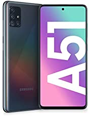 "Samsung Galaxy A51 Smartphone, Display 6.5"" Super AMOLED, 4 Fotocamere Posteriori, 128 GB Espandibili, RAM 4 GB, Batteria 4000 mAh, 4G, Dual Sim, Android 10, [Versione Italiana], Prism Crush Black"