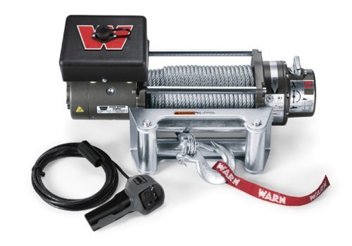 WARN 26502 M8000 Series Electric 12V Winch with Steel Cable Wire Rope: 5/16' Diameter x 100' Length, 4 Ton (8,000 lb) Pulling Capacity