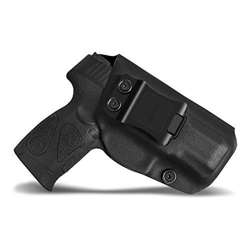 Ehpow IWB Holster Taurus G2C Holsters, IWB Kydex Holster Custom Fits Taurus G2C 9mm & Millennium PT111 G2 / PT140 Pistol - Inside Waistband Concealed Carry - Right Handed
