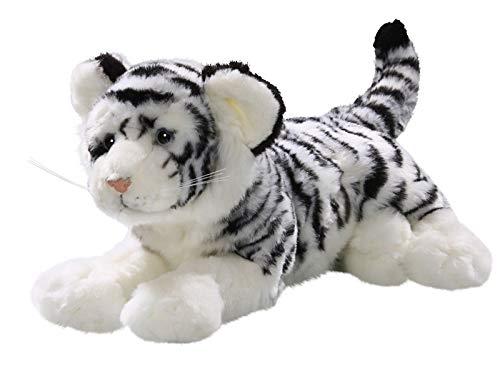 Carl Dick Peluche - Tigre Blanco acostado (Felpa, 32cm) [Juguete] 1789