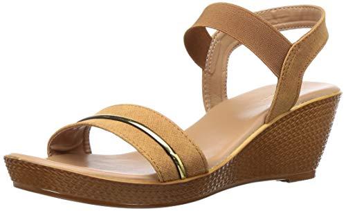 BATA Women's Lille Beige Fashion Sandals-4 (6618915)