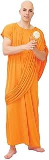 Fiestas Guirca Men's Hare Krishna Buddhist Monk Robe Cloak Religious Fancy Dress medium/large Orange