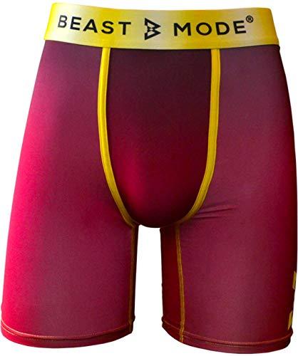 PSD Underwear Herren Boxershorts,Rot & Gold,XXL