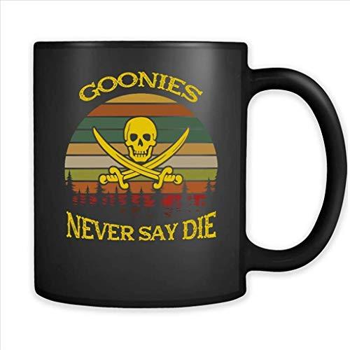 Goonies Never Say Die, Vintage Retro Design - Full-Wrap Coffee Black Mug