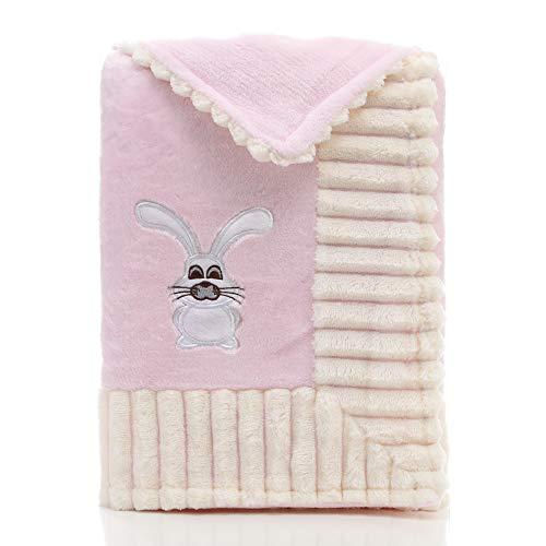 IBLUELOVER Saco de Dormir bebés Manta A Cuadros Polar Recién Nacido Ultra Suave Manta Felpa Cálido Envoltura Invierno para Asientos de Auto Carritos de bebé Cunas para bebés Cochecitos de bebé Cuna