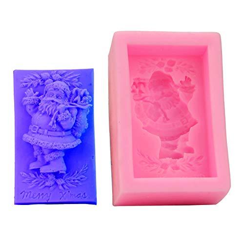 ZHILL Bricolage Santa gâteau décoration Moule 3D Cuisson Fondant Outil Savon Moule