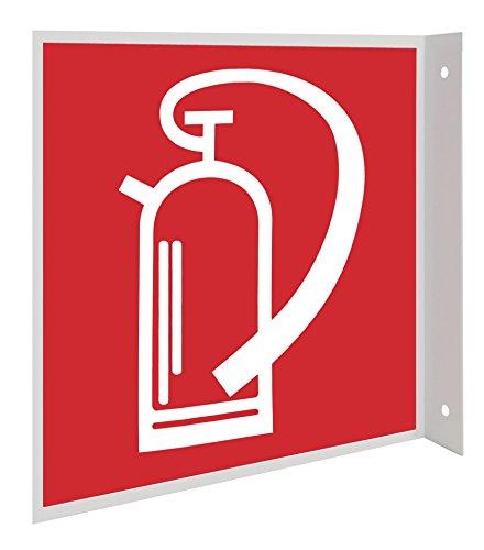 Feuerlöscher Symbol Fahnenschild Hinweisschild Brandschutzzeichen DIN Kunststoffplatte 150x150mm