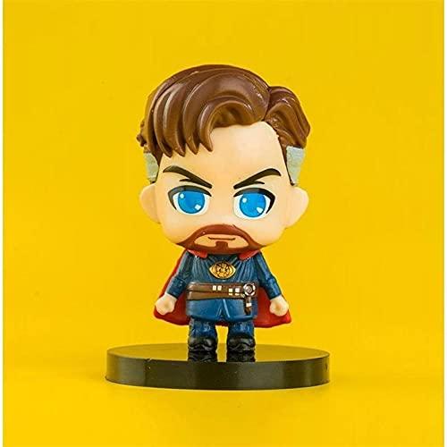 Marvel Avengers Modelo a Seguir, versión Q del Capitán América Iron Man Spider-Man Thanos Hulk Modelo de Adorno, decoración Regalo de cumpleaños Doctor Strange 6CM