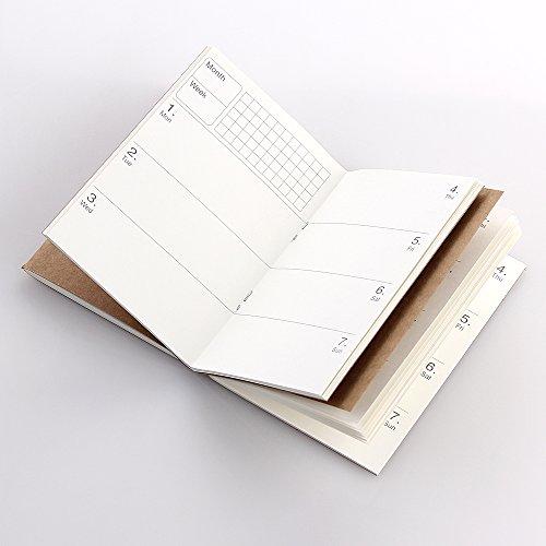 CEETOL 3冊セット 手帳リフィル システム手帳リフィル リフター メモリフィル ビジネス手帳 メモ帳 日記帳 交換用