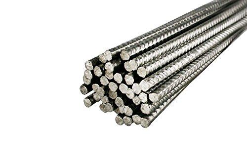 10 Stück Bewehrungsstahl 1,5 m Länge, 6 mm Durchmesser – Inoxripp® 4486, rostfrei, Edelstahl V4A - verschiedene Längen