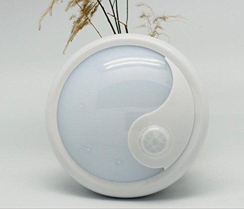 Habe Energy-saving Creative Battery, LED Infrared Sensor Lights, Home Hallway Night Light , white light