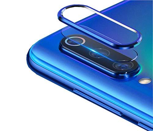 NOKOER Protector de Lente de Cámara para Xiaomi Redmi Note 8, [2 en 1] Anillo Protector Metálico para la Cámara + Película Protectora para la Cámara, Lente de la Cámara de Protección - Azul