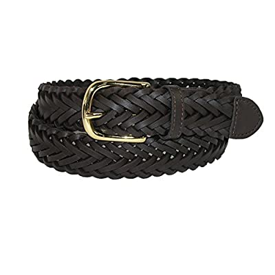Aquarius Boys' Leather Braided Uniform Dress Belt (Pack of 2)