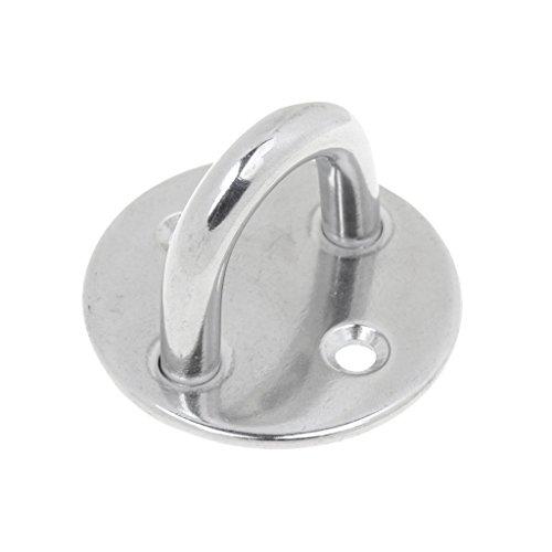304 Edelstahl 2 Loch Runde Pad Augenplatte mit Runder Ringanzug für Segelboot Kajak Yacht Sonnenschirme Zubehör (M8)
