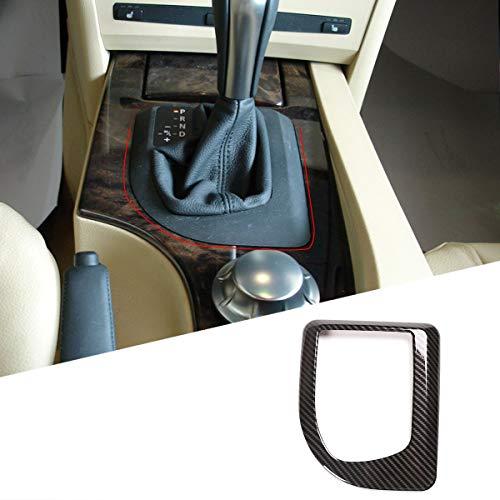 LLKUANG Karbonfaser-Stil für BMW 5er-Serie E60 E61 2007 2006 2005 2004 Mittelkonsole Gangschaltung Verkleidung