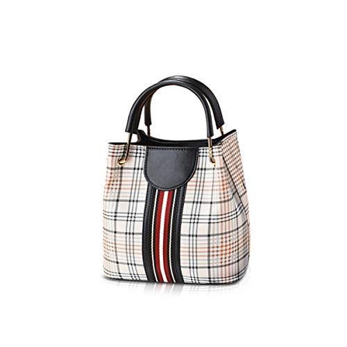 NICOLE&DORIS Damen Mode Handtaschen Eimer Taschen Top Griff Trend Umhängetasche Leder Umhängetasche schwarz
