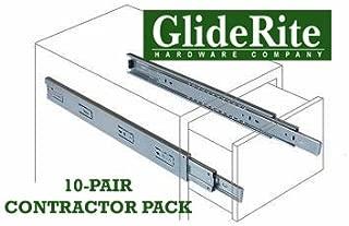 GlideRite Hardware 2470-ZC-10 24 inch 100 lb 1 inch 10 Pack 24