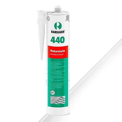 Ramsauer 440 Naturstein 1K Silikon Dichtstoff 310ml Kartusche (Transparent)