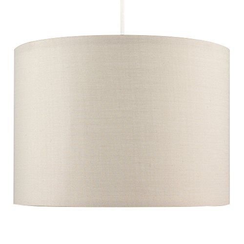 MiniSun – Moderna pantalla de tamaño grande, color cappuccino y forma cilíndrica – para lámpara de techo o lámpara de mesa