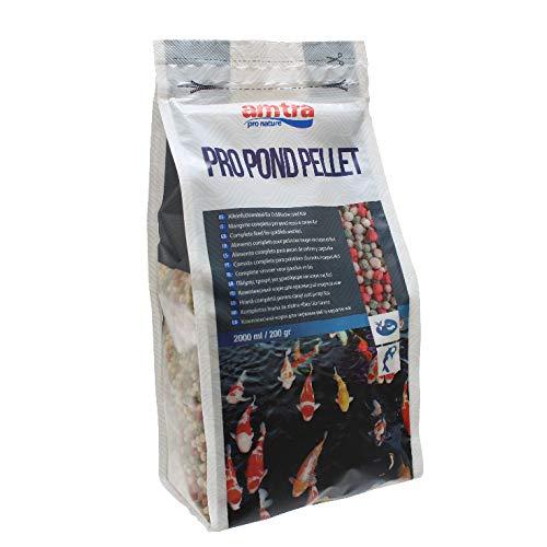 Amtra PRO Pond Pellet - alimento per Pesci Rossi e Carpe Koi da laghetto in Pellet, Formato 2000 ml
