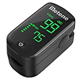 Metene Pulse Oximeter Fingertip, Blood Oxygen Saturation Monitor with Accurate Fast Spo2 Reading Oxygen Meter, Oxygen Monitor with Lanyard and Batteries (Black)