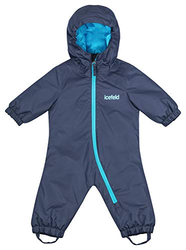 icefeld Schneeoverall/Skianzug für Babys und Kleinkinder (Jungen und Mädchen), Marineblau in Größe 98/104