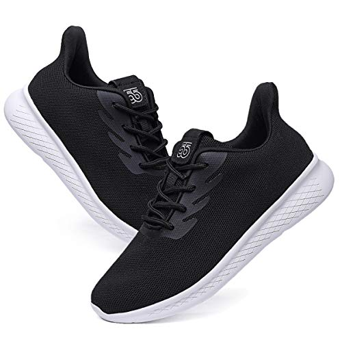 Womens Walking Shoes Lightweight Casual Lace Up Athletic Running Tennis Sneakers 5503 Black 39