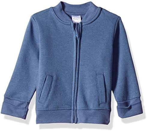 Hanes unisex baby Ultimate Zippin Fleece Jacket Sweatshirt Dark Blue 0 6 Months US product image