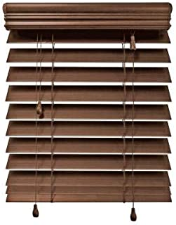 Home Decorators Collection Maple 2-1/2 in. Premium Faux Wood Blind - 47 in. W x 64 in. L (Actual Size 46.5 in. W x 64 in. L) (1 Pack)