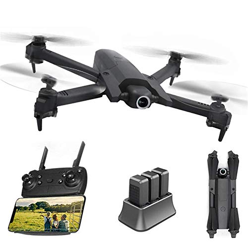 ZHCJH Dron aéreo HUAXM 4K, avión de Control Remoto Plegable de Flujo óptico, avión de Control Remoto de Flujo óptico aéreo Quadcopter Flying Across Mini Drone Cámara única